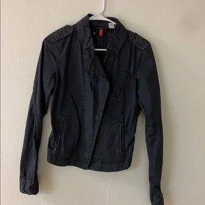 Divided by H & M Dark Gray  Jean jacket Size 6